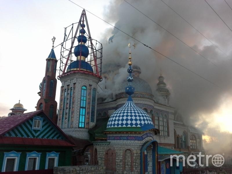Крупный пожар в Казани вспыхнул утром 10 апреля. Фото МЧС Татарстана