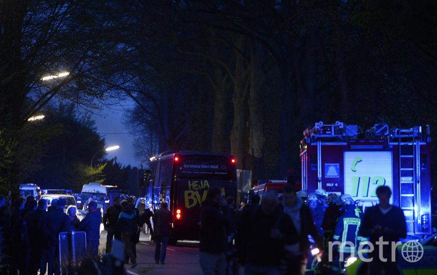 """Взрыв случился у автобуса дортмундской """"Боруссии"""". Фото AFP"""
