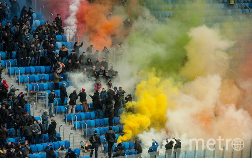"Учения 12 апреля на стадионе на Крестовском. Фото Святослав Акимов, ""Metro"""