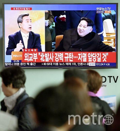 Лидер КНДР Ким Чен Ын (справа). Фото Getty