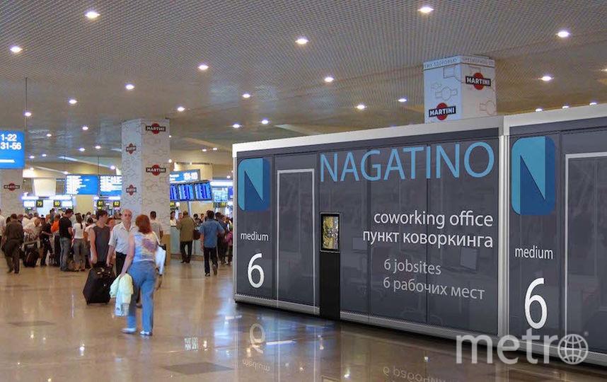 """Размещение офисных модулеи в терминале Домодево. Фото Артур Скижали-Вейс, """"Metro"""""""