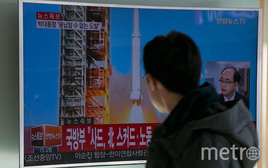 Ракетные испытания КНДР. Фото Getty