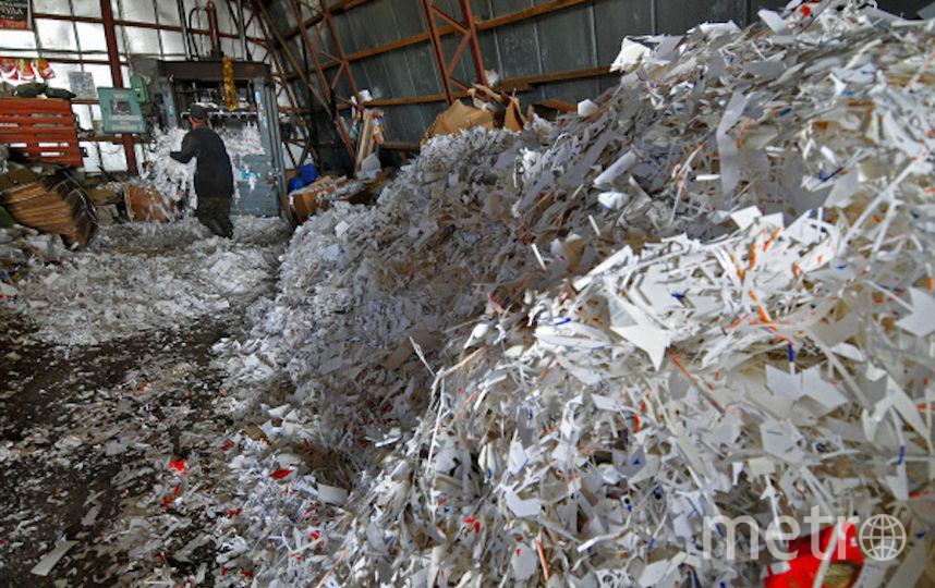 Работа по сбору и утилизации макулатуры (архивное фото). Фото РИА Новости