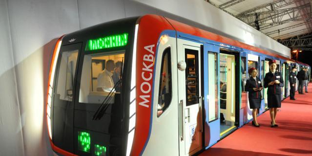 """Скоростной поезд """"Москва""""."""