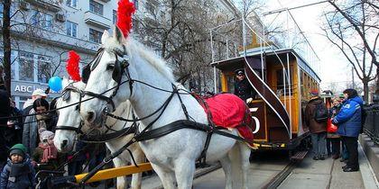 В Москве прошёл парад ретротрамваев