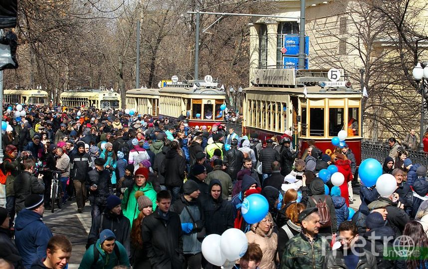 Парад ретротрамваев. Фото Василий Кузьмичёнок
