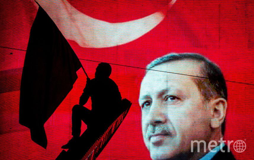 Сторонник президента Турции Эрдогана. Фото Getty