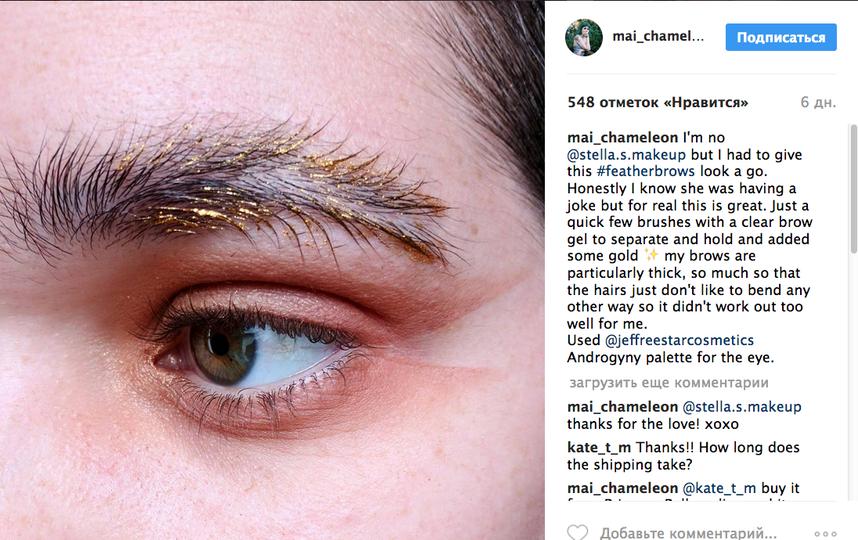 Новый тренд макияжа брови-перья взорвал Instagram. Фото Скриншот Instagram