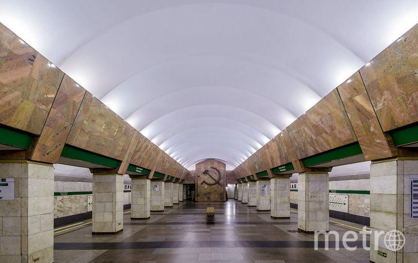 В Петербурге пассажир метро упал на путь станции Пролетарская. Фото wikipedia.org/Alex 'Florstein' Fedorov