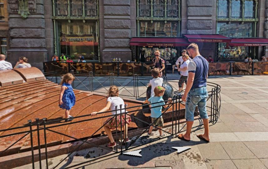 В Петербурге состоится открытие сезона фонтанов. Фото Яндекс.Панорамы.
