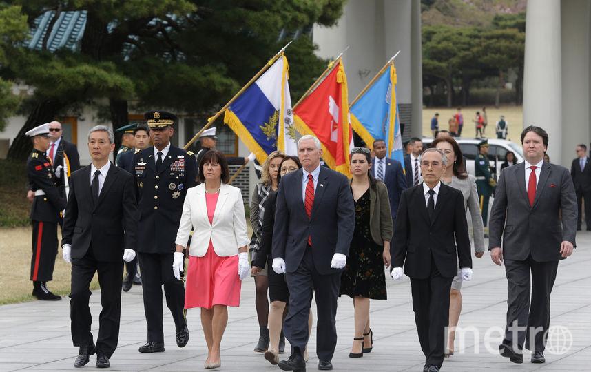 Вице-президент США Майк Пенс прибыл с визитом в Южную Корею. Фото AFP