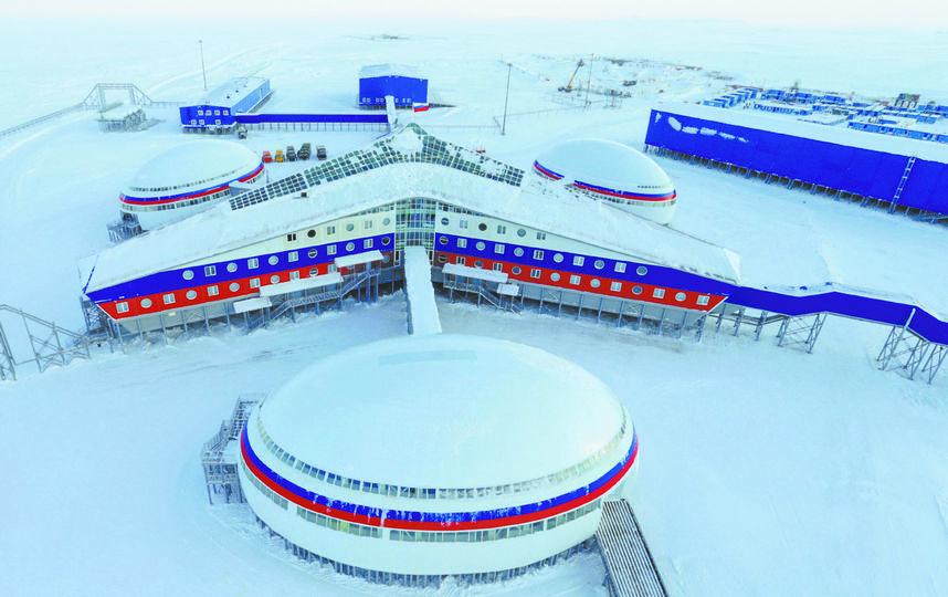 """Военная база """"арктический трилистник"""". Фото предоставлены пресс-службой Минобороны РФ."""