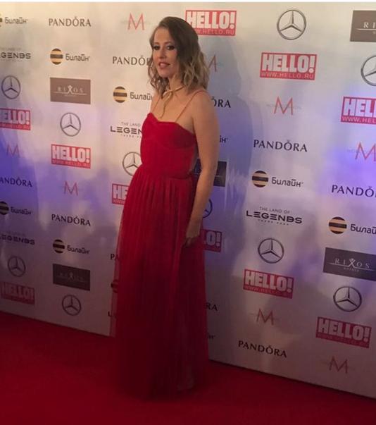 Ксения Собчак на премии журнала Hello. Фото Instagram