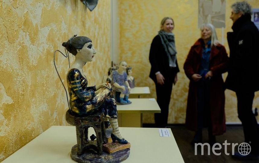 """Скульптура Ахматовой, возможно, останется в Фонтанном доме. Фото Алена Бобрович., """"Metro"""""""