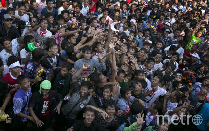 Водный фестиваль в Мьянме. Фото Getty
