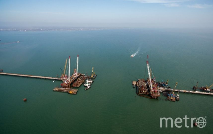 Строительство моста через Керченский пролив. Фото РИА Новости