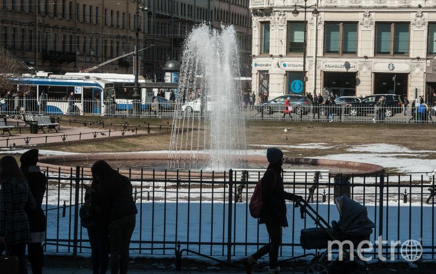 """Запуск фонтанов 19 апреля. Фото Святослав Акимов, """"Metro"""""""