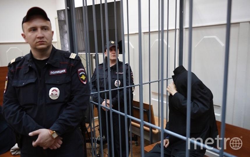 Предполагаемый организатор терактов в Петербурге Аброр Азимов в суде. Фото РИА Новости