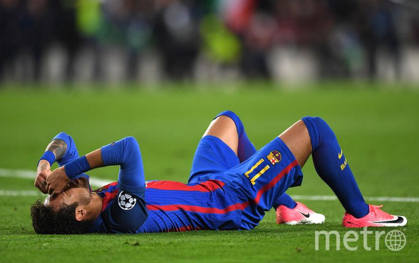 """Разочарование нападающего """"Барселоны"""" Неймара. Фото Getty"""