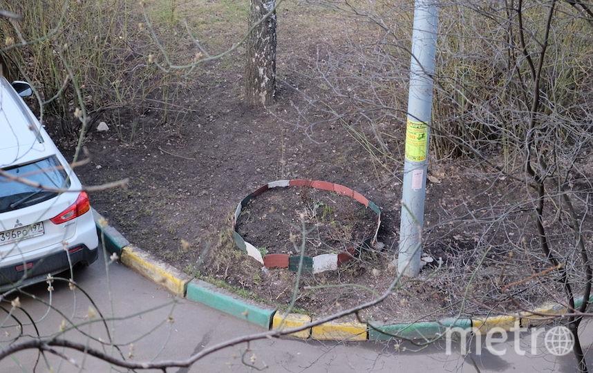 """Вот так сейчас выглядит место бывшего """"кошачьего дома"""". На столбе надпись - ведётся видеонаблюдение. Фото Алёна Гудеменко., """"Metro"""""""