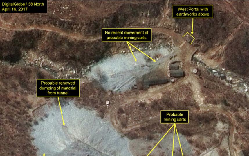 Карта испытаний северокорейского ядерного оружия. Фото Getty