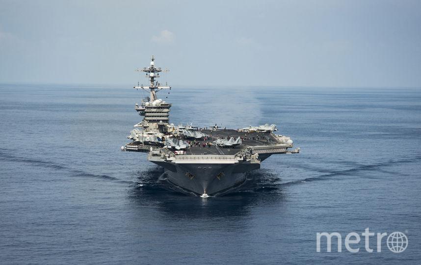 "Авианосец ""Карл Винсон"" в Тихом океане. Фото AFP"