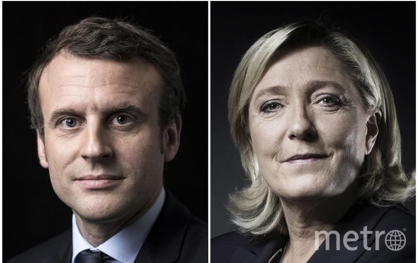 Эммануэль Макрон и Марин Ле Пен. Фото AFP