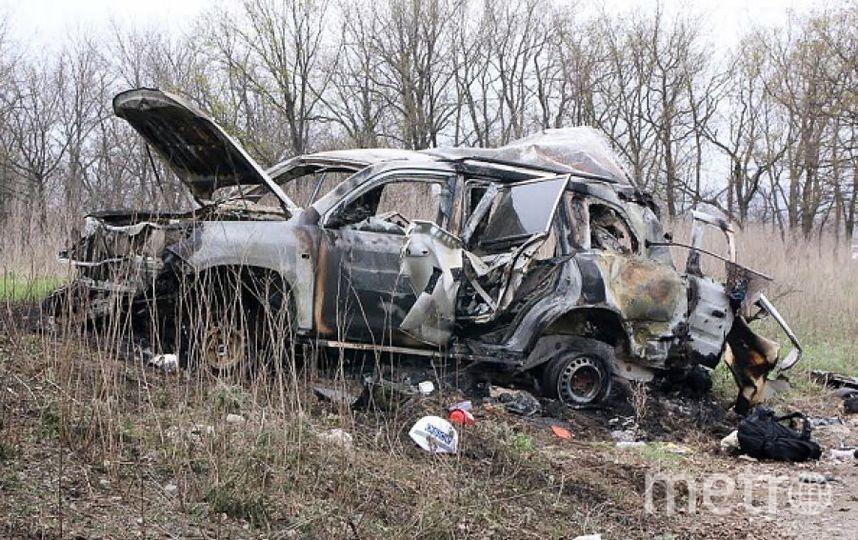 Взорванный автомобиль. Фото Getty