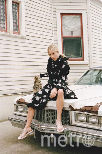 Хлоэ Севиньи с кошкой. Фото PUSS PUSS