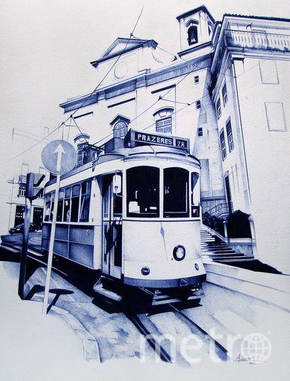Трамвай в Лиссабоне. Фото Anthony Caseiro