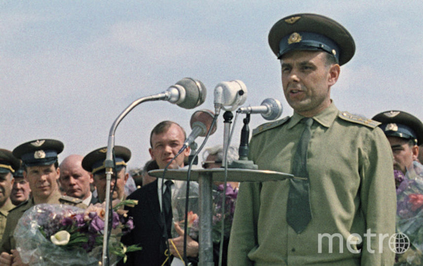 Лётчик-космонавт Владимир Комаров. Фото РИА Новости