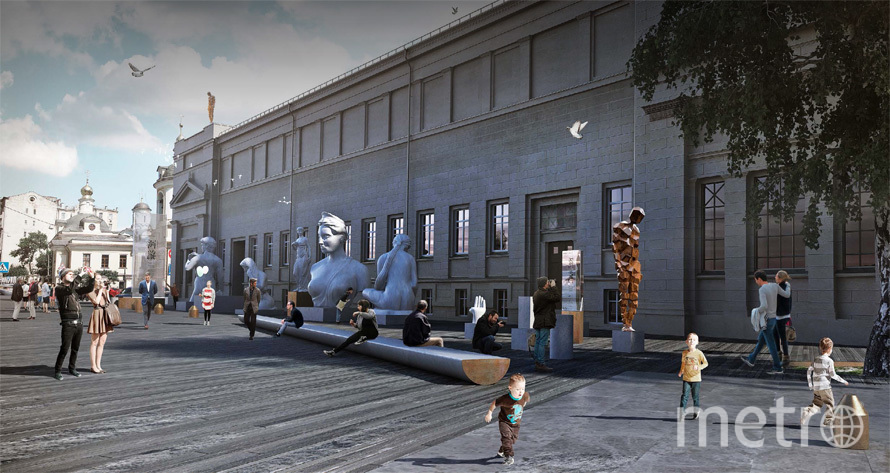 У стен музея установят скульптуры. Фото mos.ru