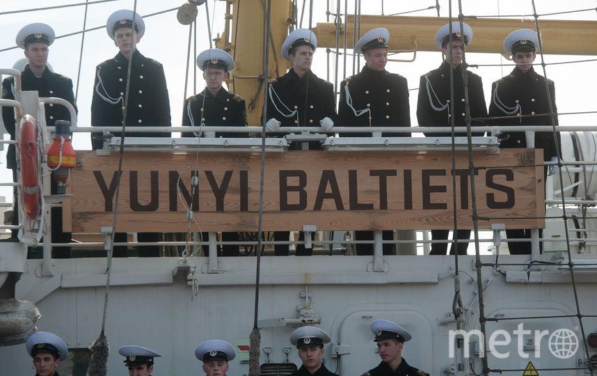 Учебный парусник «Юный балтиец» отправился в 1-ый рейс вданном сезоне