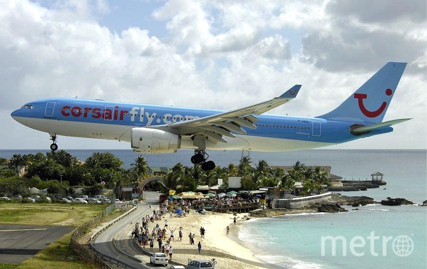 Аэропорт Принцессы Юлианы, Карибские острова. Фото wikipedia.org.