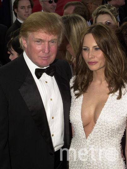 Мелания и Дональд Трамп. 2001 год. Фото Getty