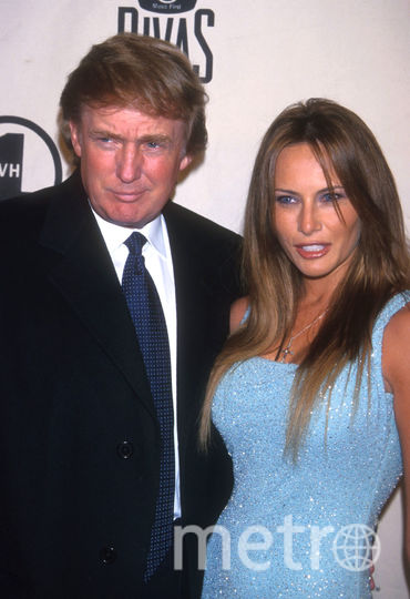 Мелания с Дональдом Трампом. 1999 год. Фото Getty