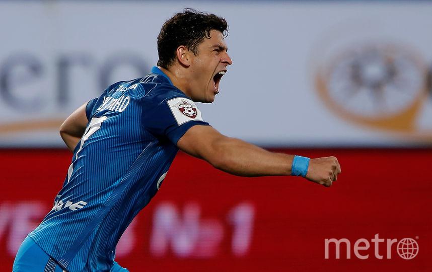 Полузащитник Жулиано забил 17-й гол в составе «Зенита». Фото Getty