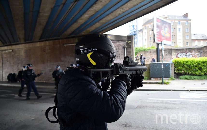 Протесты в Париже. Фото AFP