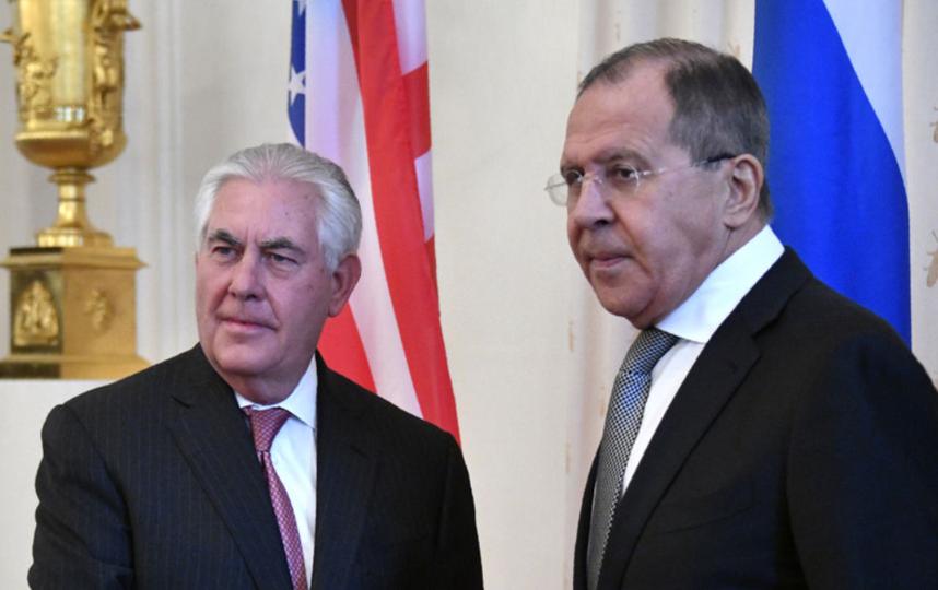 Встреча Сергея Лаврова и Рекса Тиллерсона в Москве. Фото AFP